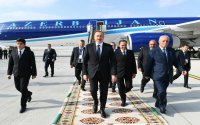 Azərbaycan Prezidenti Türkmənistana işgüzar səfərə gedib
