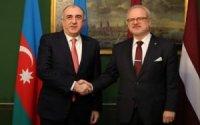 Elmar Məmmədyarov Latviya Prezidenti ilə görüşüb