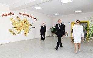 Prezident və xanımı yeni kompleksin açılışında - Fotolar