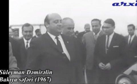 Dəmirəlin 1967-ci il Bakı səfəri: kadrda görün kim var - Video