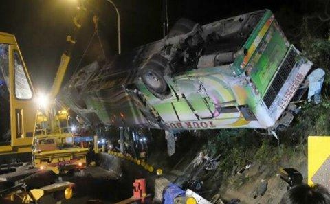 Zəvvarların olduğu avtobus qəzaya düşdü - 14 ölü var