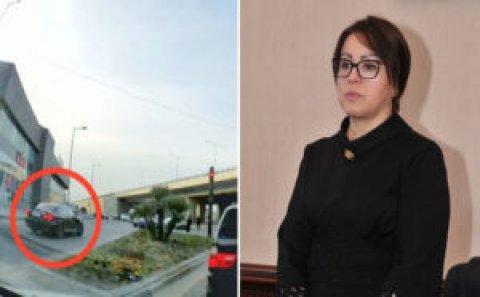 "Abşeron icra başçısının maşını ""protiv"" getdi: Yol polisi görüb ""çest"" verdi (VİDEO)"