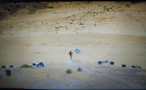 Qarabağda təxribat: bayrağımız hədəf alındı - Video