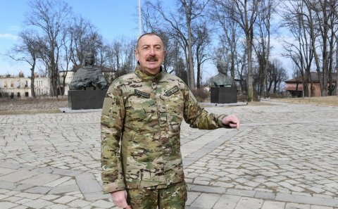 Prezident: Əminəm ki, Polad gəlib atasının evini bərpa edəcəkdir – VİDEO