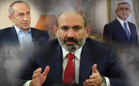 """""""KOÇARYAN VƏ SARQSYAN, SİZ VƏTƏN XAİNİSİNİZ!"""" - Paşinyan coşdu"""