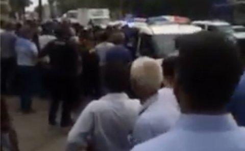 Biləsuvarda aksiya: polis müdaxilə edib